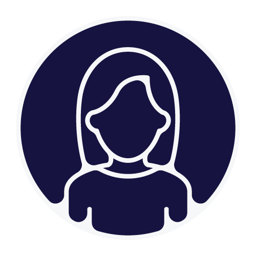 Outline of a person with a dark blue background.