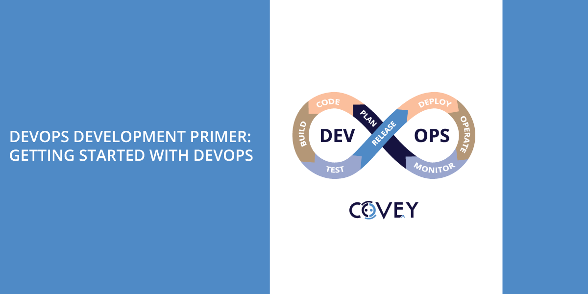 DevOps infinity symbol with Covey logo